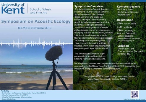 Acoustic Ecology Symposium 2013, Kent Univ.